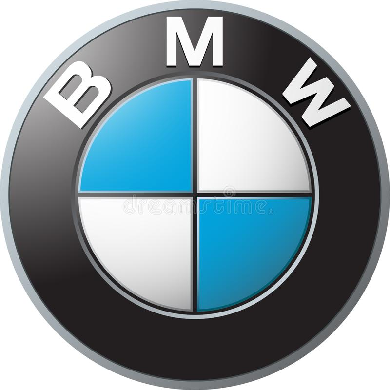 Bmw icon logo. BMW AG is a German multinational company which currently produces automobiles and motorcycles, and also produced aircraft engines until 1945. The royalty free illustration