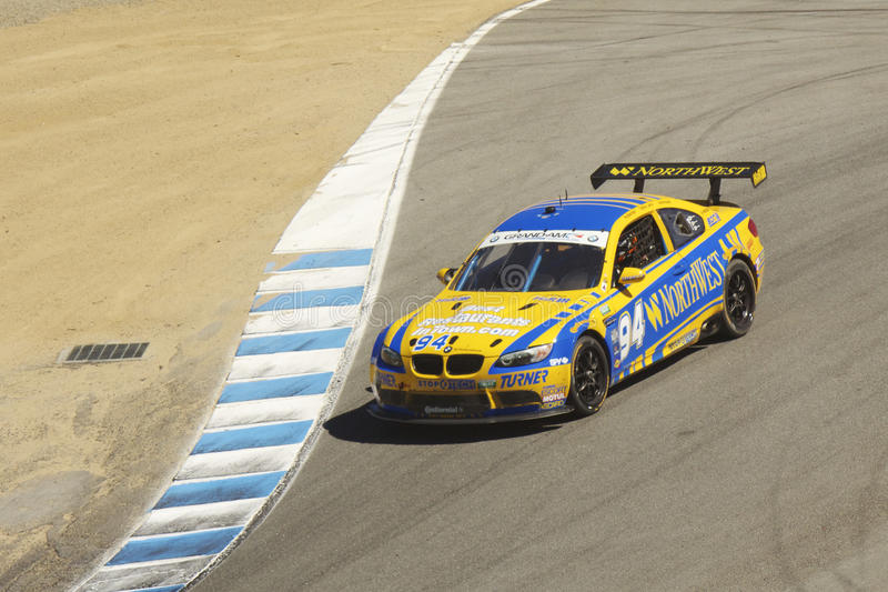BMW 335 at Grand AM Rolex Races. Grand AM Rolex Races, Mazda Raceway Laguna Seca, September 9, 2012 stock photos