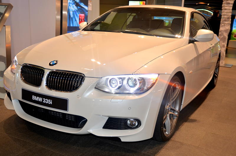 BMW 335i. At the Munich BMW Showroom, Germany royalty free stock photos
