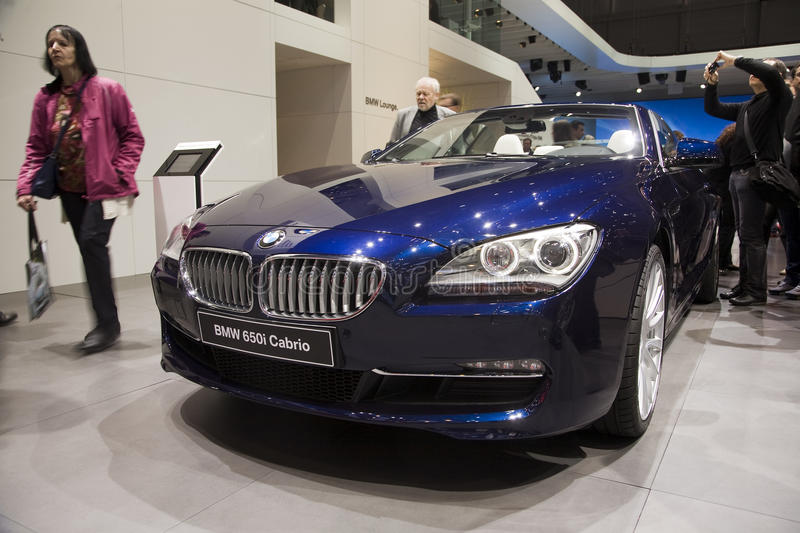 BMW 650i Cabrio. At the 2011 Geneva Motor Show. Photo taken on: March 04th, 2011 royalty free stock images