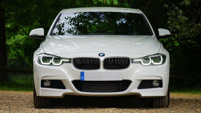 BMW车前面  免版税图库摄影
