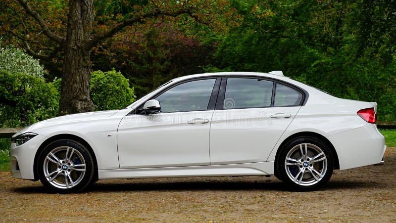 BMW汽车的边 免版税库存照片