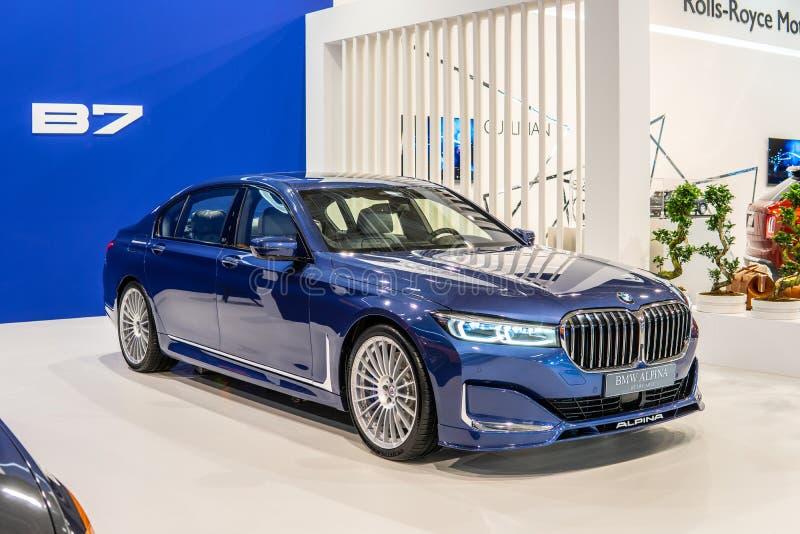 BMW ALPINA B7 BITURBO, Alpina Burkard Bovensiepen GmbH develops and sells high-performance versions of BMW cars stock photo