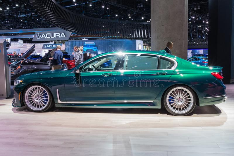BMW Alpina B7 on display during Los Angeles Auto Show stock photo