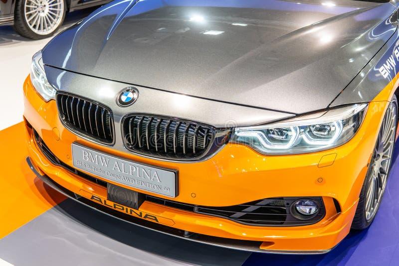 BMW ALPINA B4 s BITURBO Edition99, Alpina Burkard Bovensiepen ГмбХ начинает и продает высокопроизводительные версии автомобилей B стоковое изображение rf