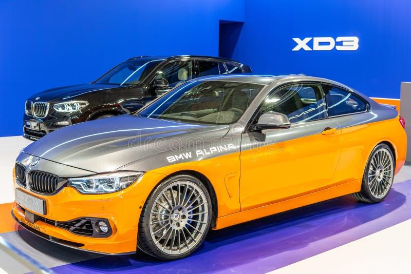 BMW ALPINA B4 s BITURBO Edition99, Alpina Burkard Bovensiepen ГмбХ начинает и продает высокопроизводительные версии автомобилей B стоковая фотография rf