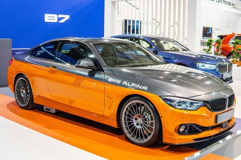 BMW ALPINA B4 s BITURBO Edition99, Alpina Burkard Bovensiepen ГмбХ начинает и продает высокопроизводительные версии автомобилей B стоковое фото