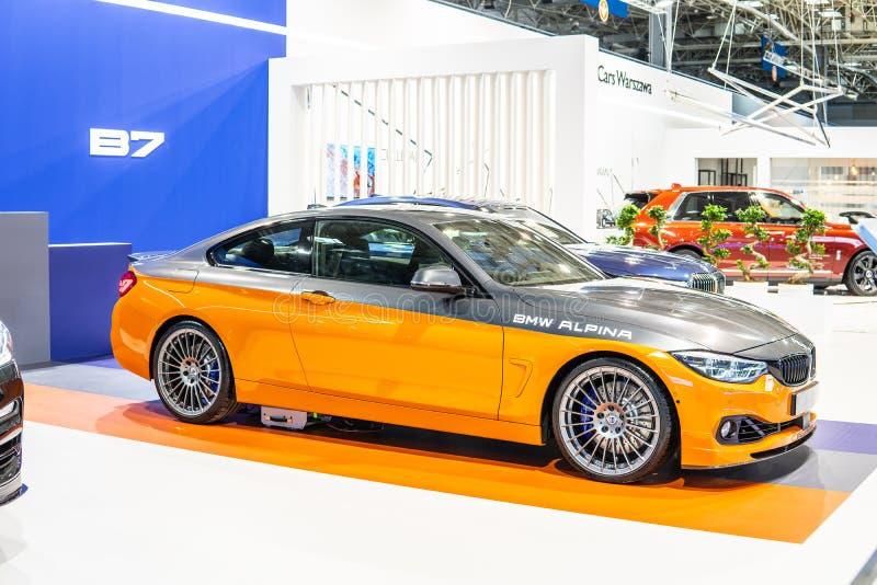 BMW ALPINA B4 S BITURBO Edition99, Alpina Burkard Bovensiepen Gmbh ontwikkelt en verkoopt krachtige versies van BMW-auto's royalty-vrije stock fotografie