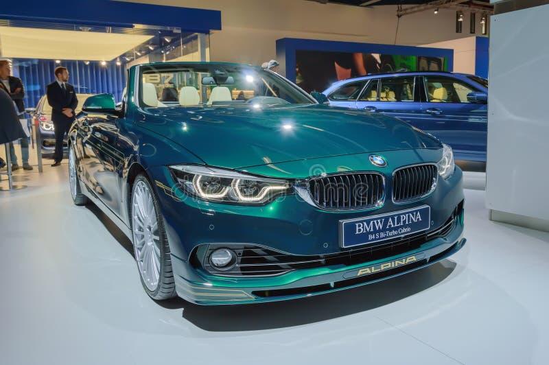 BMW Alpina Cabrio bil på motorshowen för IAA Frankfurt arkivbilder