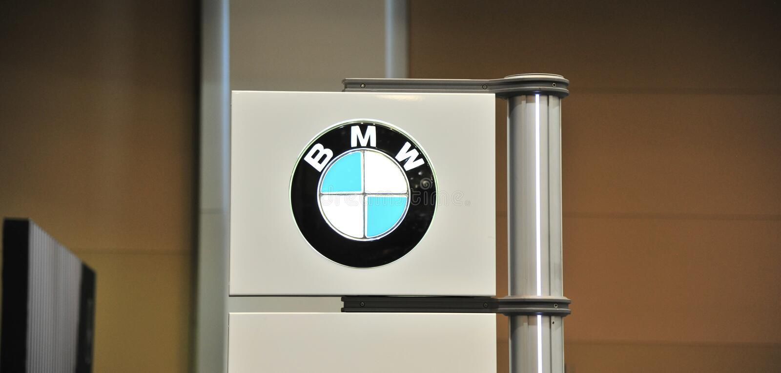 BMW Auto Show Sign. royalty free stock image