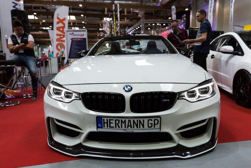 BMW Cabrio indicado na ó edição da MOSTRA de MOTO em Krakow foto de stock royalty free
