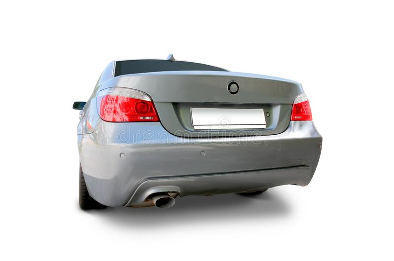 BMW 5 car back view royalty free stock image