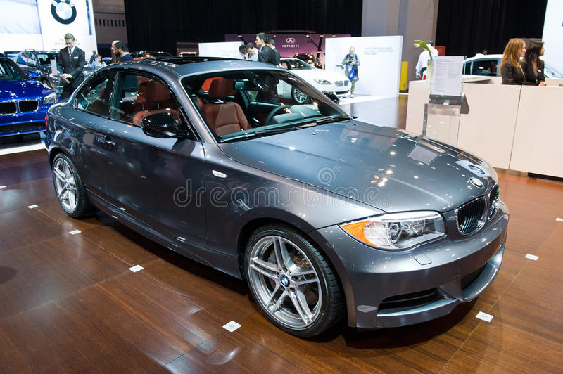 BMW at the Chicago Auto Show stock photography