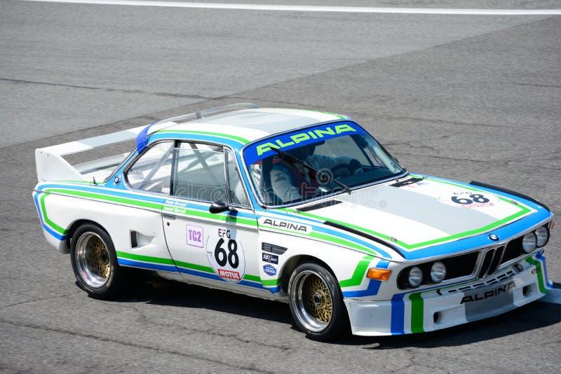 BMW clásico 3 0 touring car de CSL Alpina foto de archivo