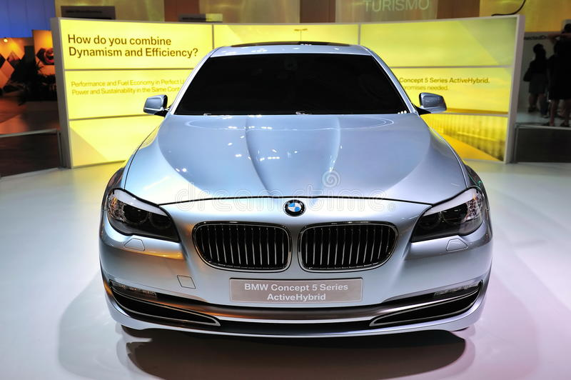 BMW Concept 5 Series ActiveHybrid sedan royalty free stock photos