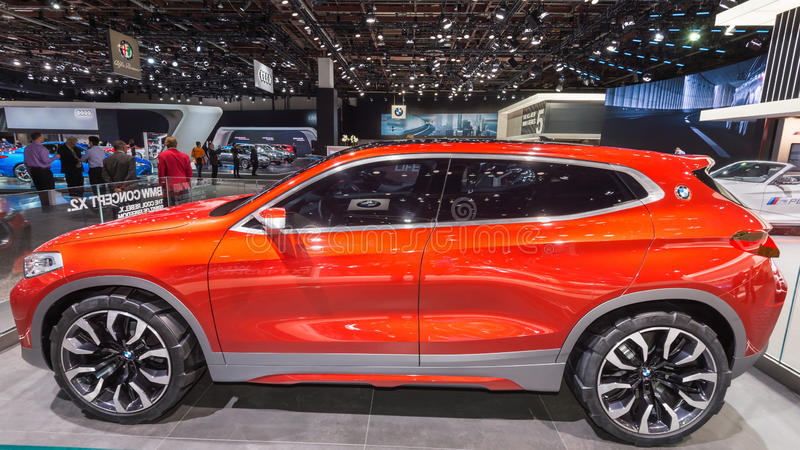 BMW X2 Concept. DETROIT, MI/USA - JANUARY 10, 2017: A BMW X2 Concept Sports Activity Vehicle (SAV, SUV) at the North American International Auto Show (NAIAS royalty free stock photo