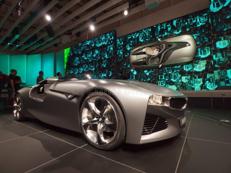 BMW conectó la visión del mecanismo impulsor imagenes de archivo