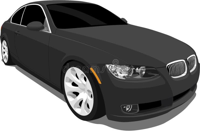 BMW coupé de 3 sports de série illustration de vecteur