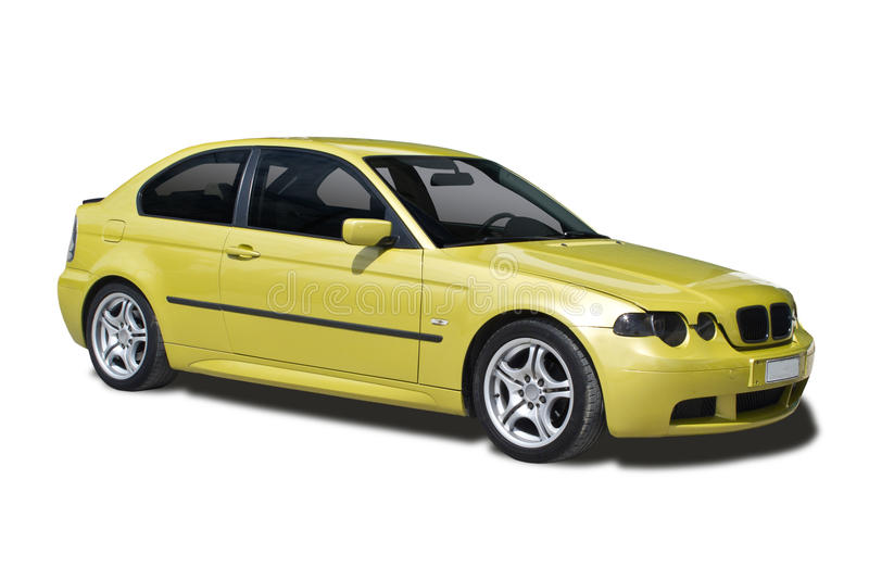 BMW 316 coupe. Side view of 316 coupe stock image