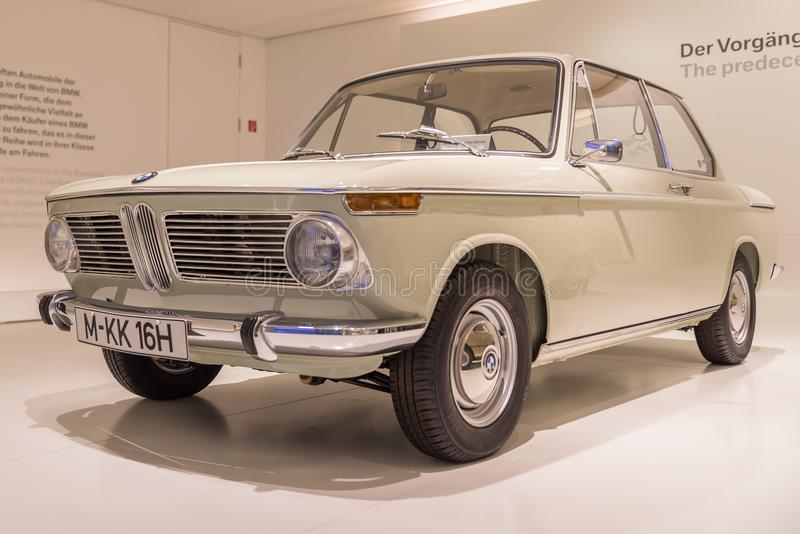 1966 BMW 1600 Coupe - Oldtimer. 1966 BMW 1600 Coupe , BMW World & Museum Munchen , Germany royalty free stock photography