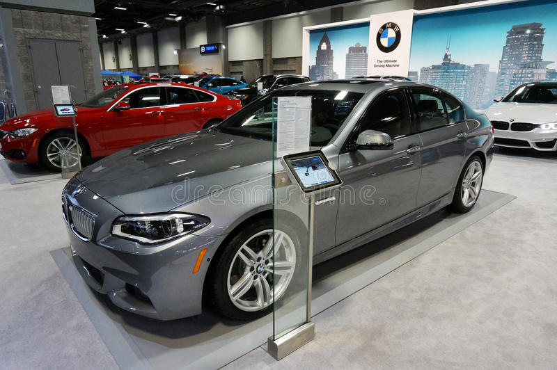 BMW Display at the Auto Show royalty free stock photos