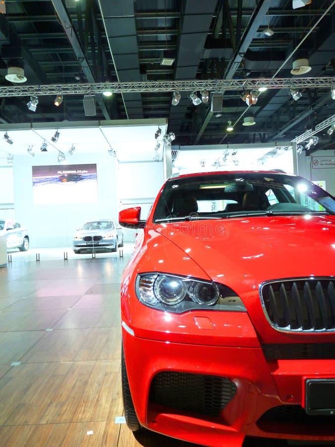 BMW Display at Motorshow royalty free stock images