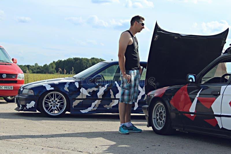 BMW E34, E36 AFWIJKINGSauto's royalty-vrije stock afbeelding