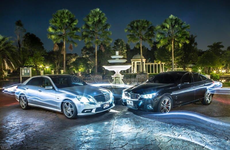 bmw e Benz foto de stock royalty free