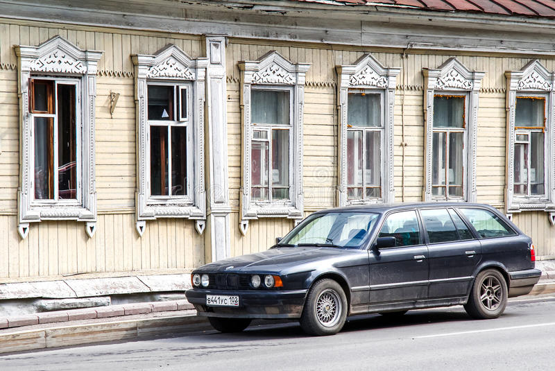 BMW E34 5-series royalty free stock images