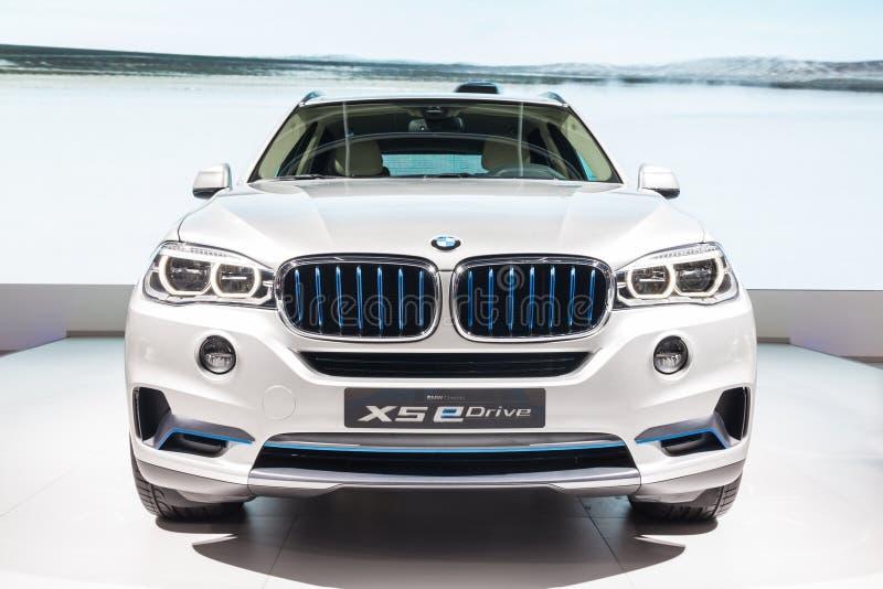 BMW X5 eDrive on display stock photos