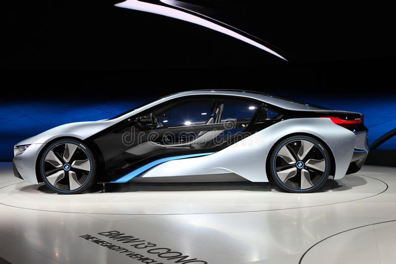 BMW electric concept car i8 royalty free stock images