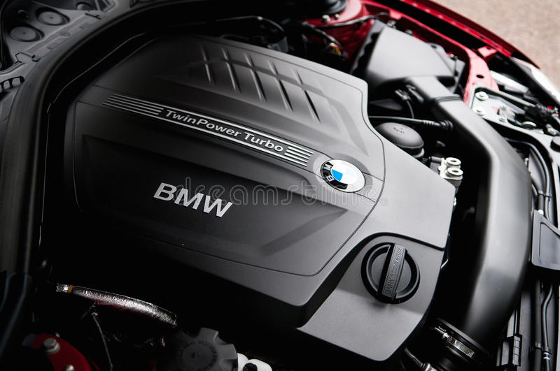 BMW engine. Engine of the famous racing car bmw sport car royalty free stock photos