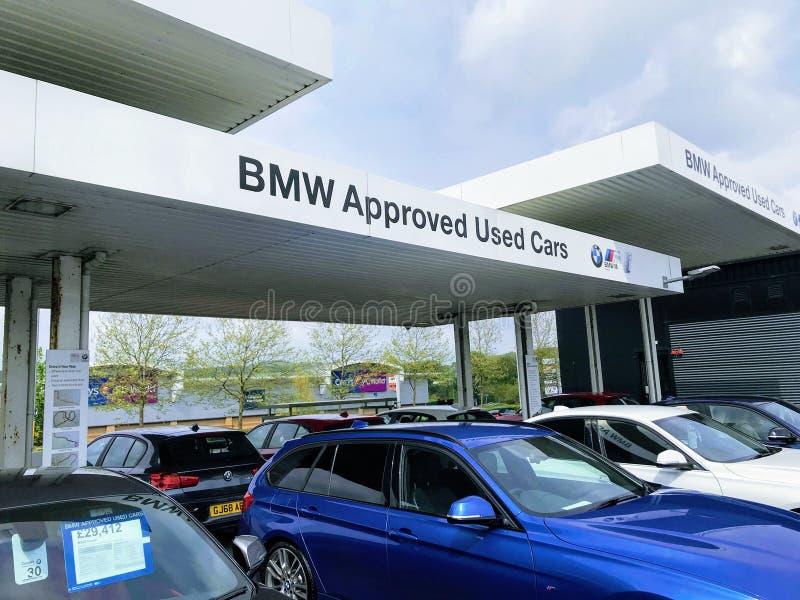 BMW genehmigte Gebrauchtwagen stockfoto