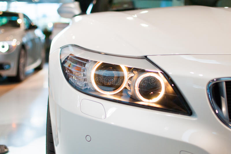 BMW Headlight Royalty Free Stock Images