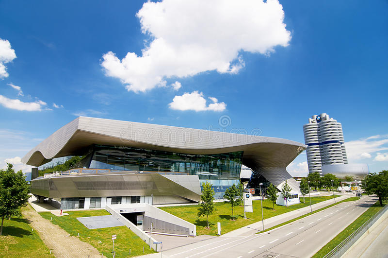BMW house in Munich is located next to the headquarter of a company and the museum of BMW. N royalty free stock photography