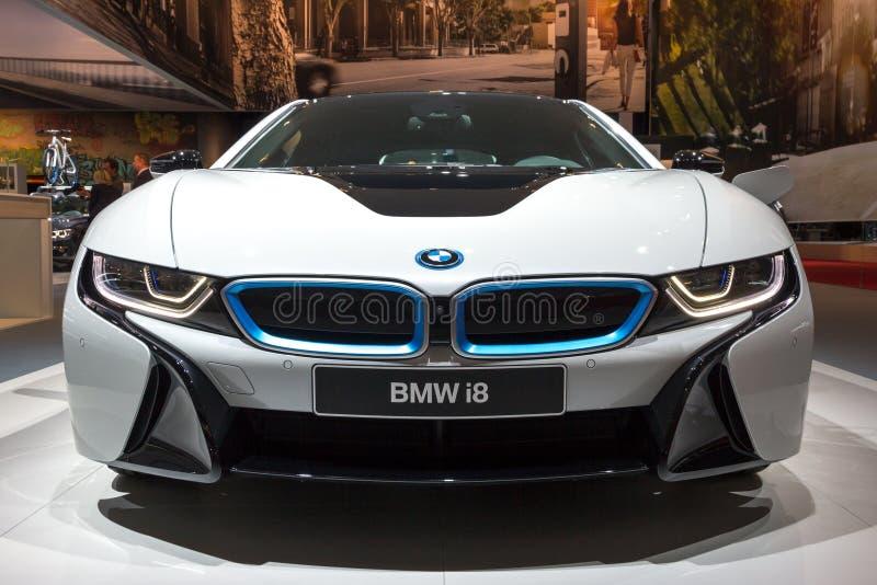 BMW i8插入式杂种跑车 库存图片