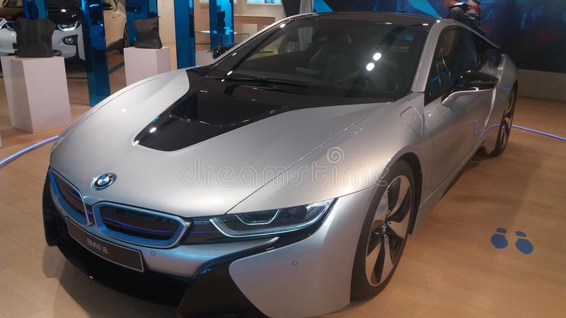 BMW i8. At the BME Museum München royalty free stock images