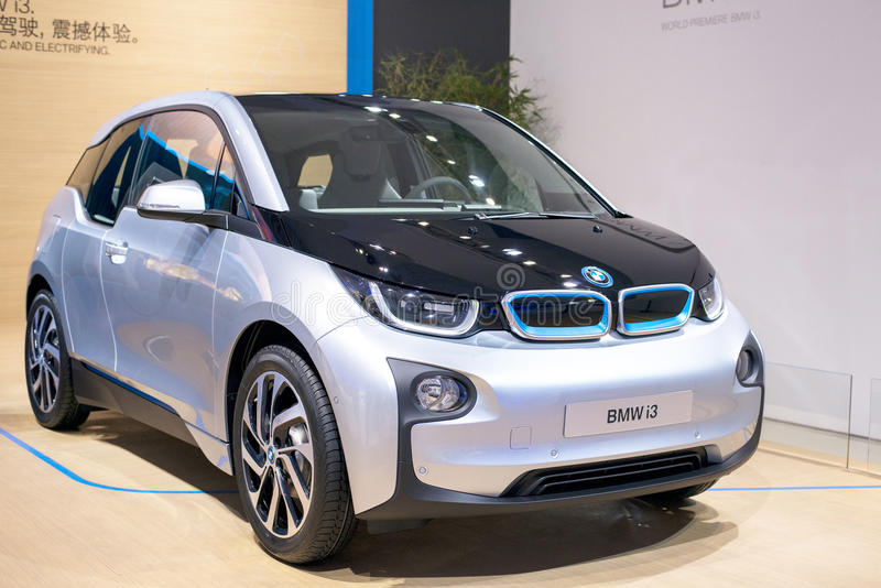 The BMW i3 electric car stock image