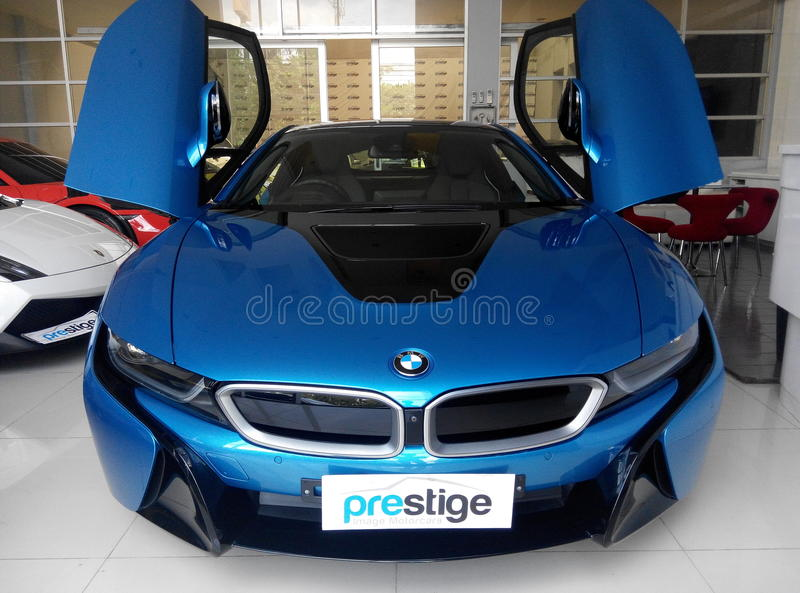 BMW i8 royalty free stock image