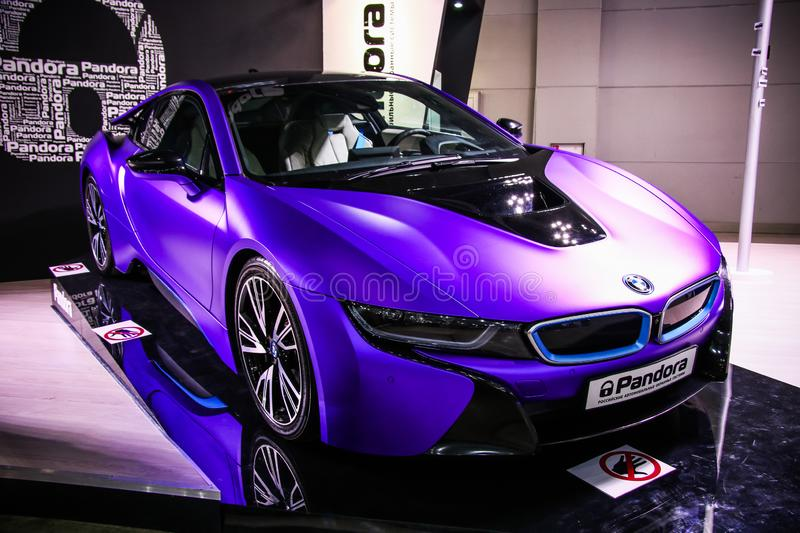 BMW i8 fotos de stock royalty free