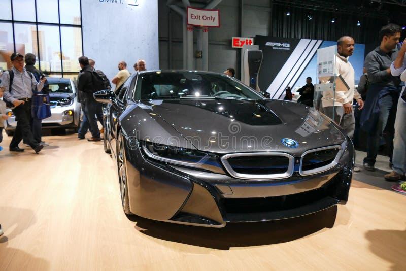BMW i8 at New York International Auto Show.JPG royalty free stock image