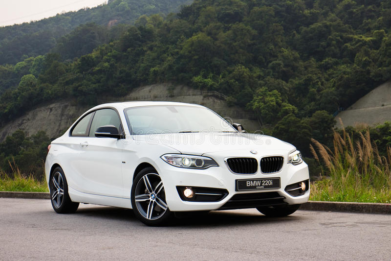 BMW 220i 2014 Sedan stock photo