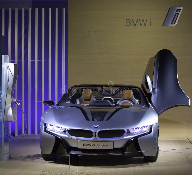 BMW i8 - O conceito de BMW i8 é mostrado imagem de stock royalty free