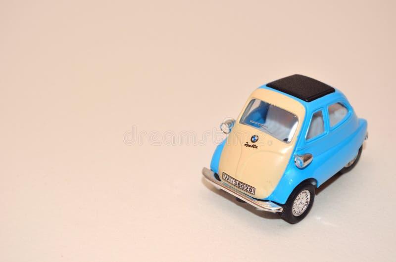 BMW Isetta toy bubble car 4 wheel stock image
