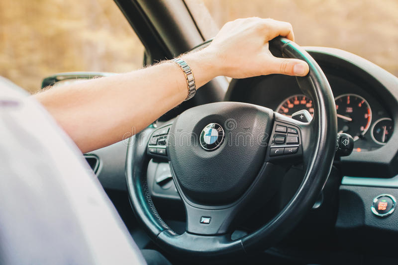 BMW jeździec zdjęcie royalty free