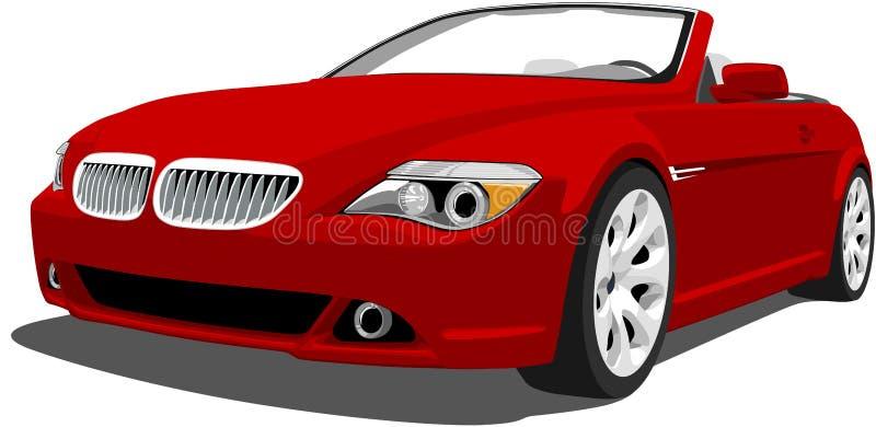 BMW Kabriolet Niemiecki Luksusowy M6 ilustracja wektor