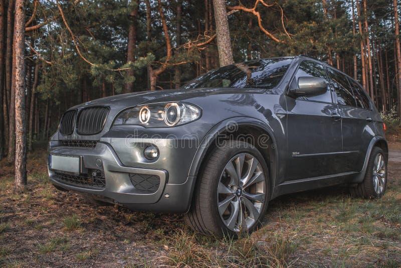 BMW X5 in legno immagini stock
