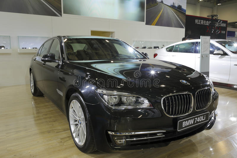 Bmw 740li car royalty free stock image