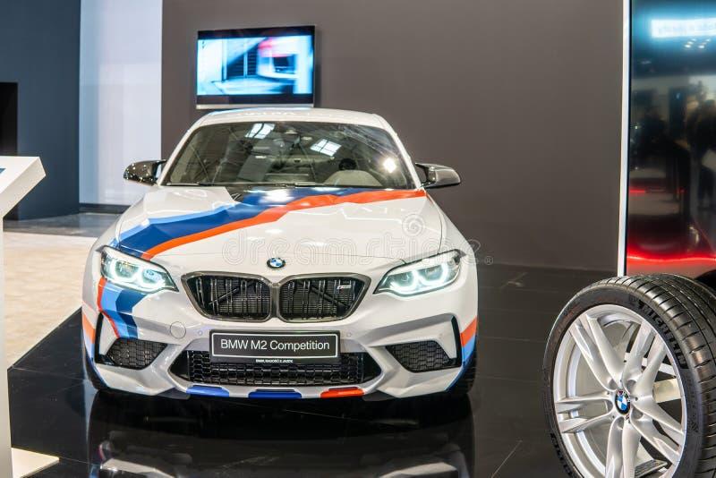 BMW M2 Coupe rywalizacja, pierwsza generacja, F22, przejażdżki coupe fabrykujący i wprowadzać na rynek BMW zdjęcia royalty free
