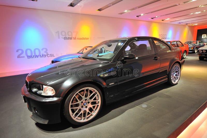 BMW M3 CSL na pokazie w BMW muzeum obraz royalty free